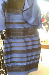 The Dress is blue and black now
