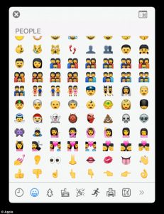 Apple new emoji keyboard.