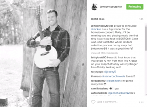 James Taylor Insta - interaction with fans