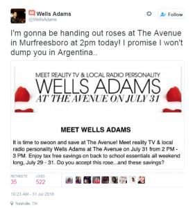 Wells Twitter