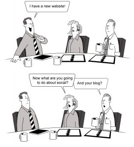 Website blog cartoon vertical