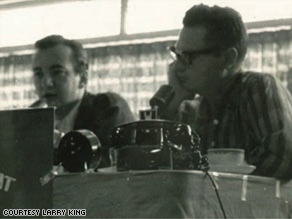 In 1959, Bobby Darin, left, was Larry's first major guest on his WKAT radio program.
