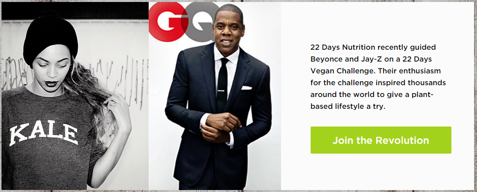 Beyonce and Jay-Z 22 day nutrition program plant-based diet