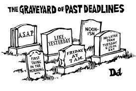 Past deadlines