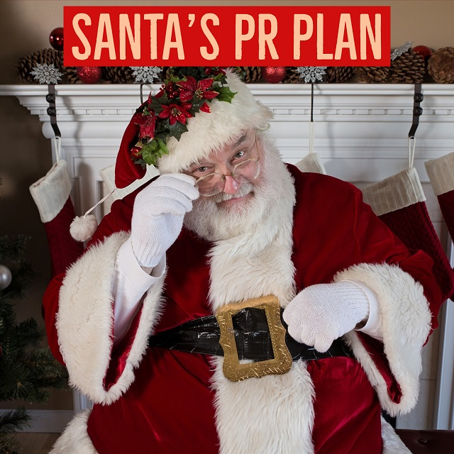 How would Santa use public relations?